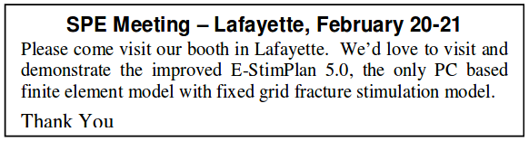 SPE Meeting Lafayette February 20-21